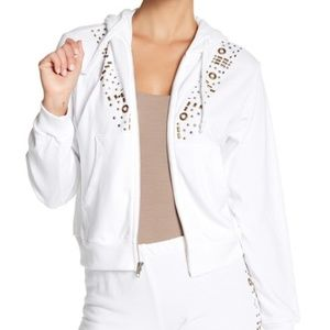 Wildfox Urban Cowgirl Regan Hoodie White Jacket